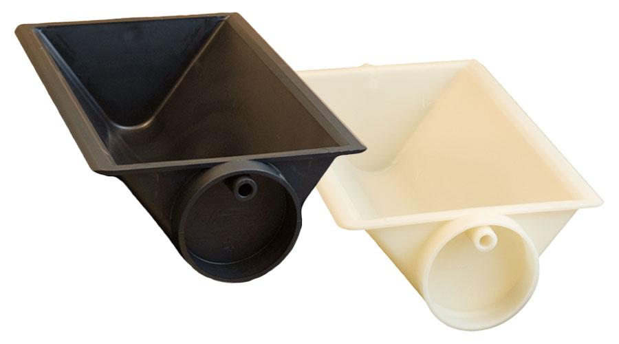 Kipp und Schaufelbehälter für industrielle Förderbandsysteme